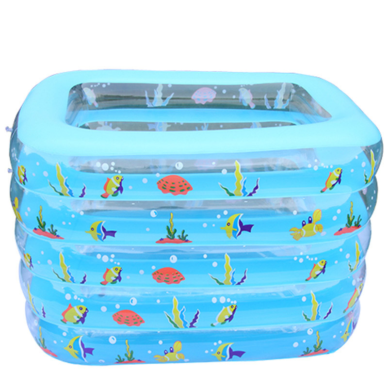 Plastik Pool portable square inflatable baby swimming pools five layers square