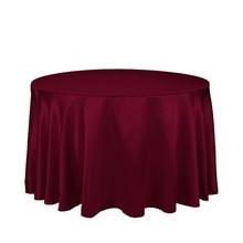"10 Uds. De manteles redondos de satén de 90 ""para decoración de mesa, para boda, fiesta, banquete, envío gratis"
