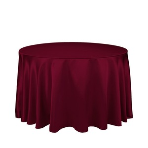"""Image 1 - 10Pcs Burgundy 90"""" Round Elegant Satin Tablecloths Table Decoration For Wedding Party Banquet Free Shipping"""