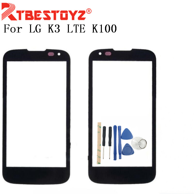 RTBESTOYZ Free Shipping LCD Front Touch Screen Glass Outer Lens For LG K3 LTE K100 K100DS LS450 with Tools