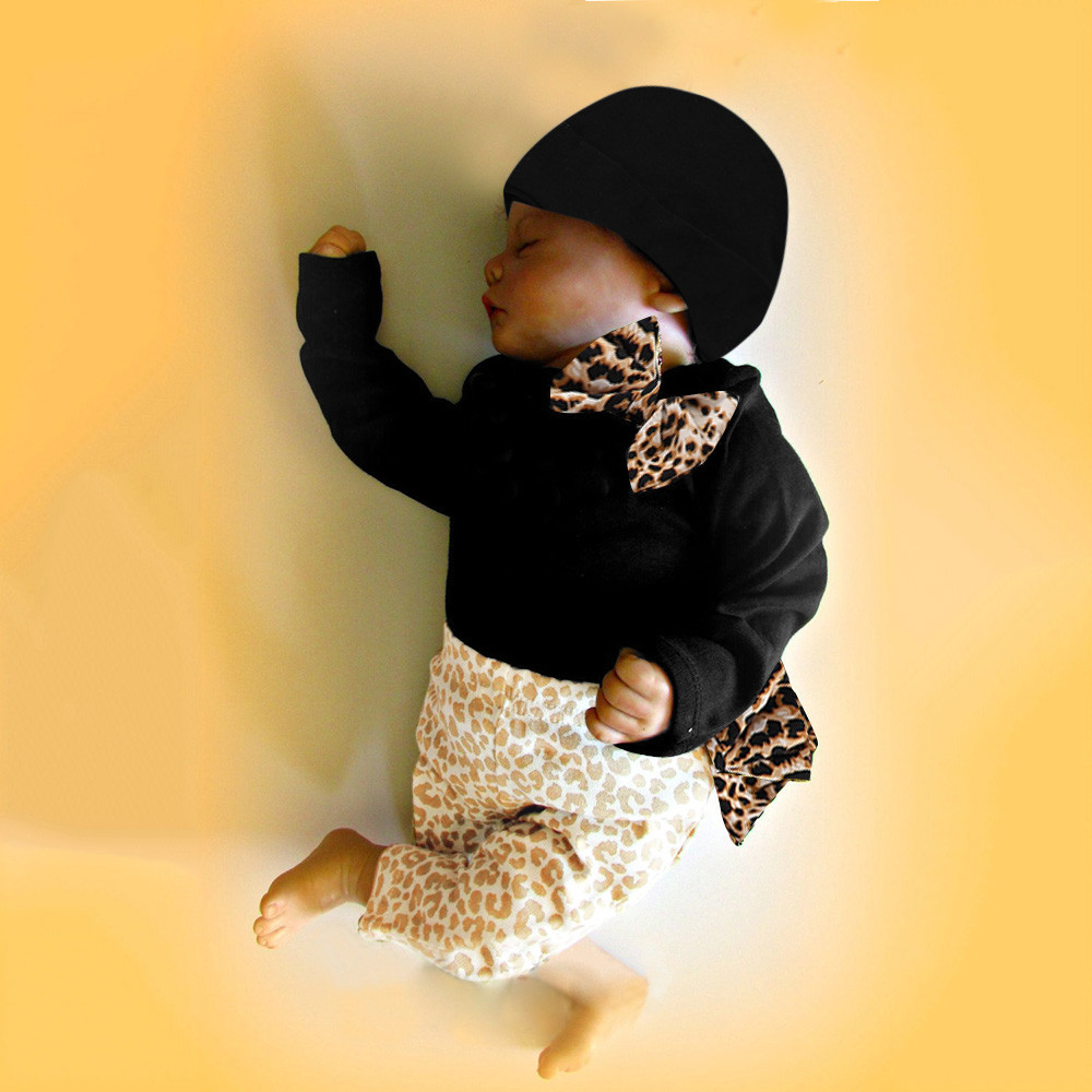 1c03ae7047a Detail Feedback Questions about MUQGEW Newborn Infant Baby Boys Girl  Clothes Romper Tops+Leopard Pants Hat 3PCS Outfits Set roupa infantil 6M  24M ropa bebe ...