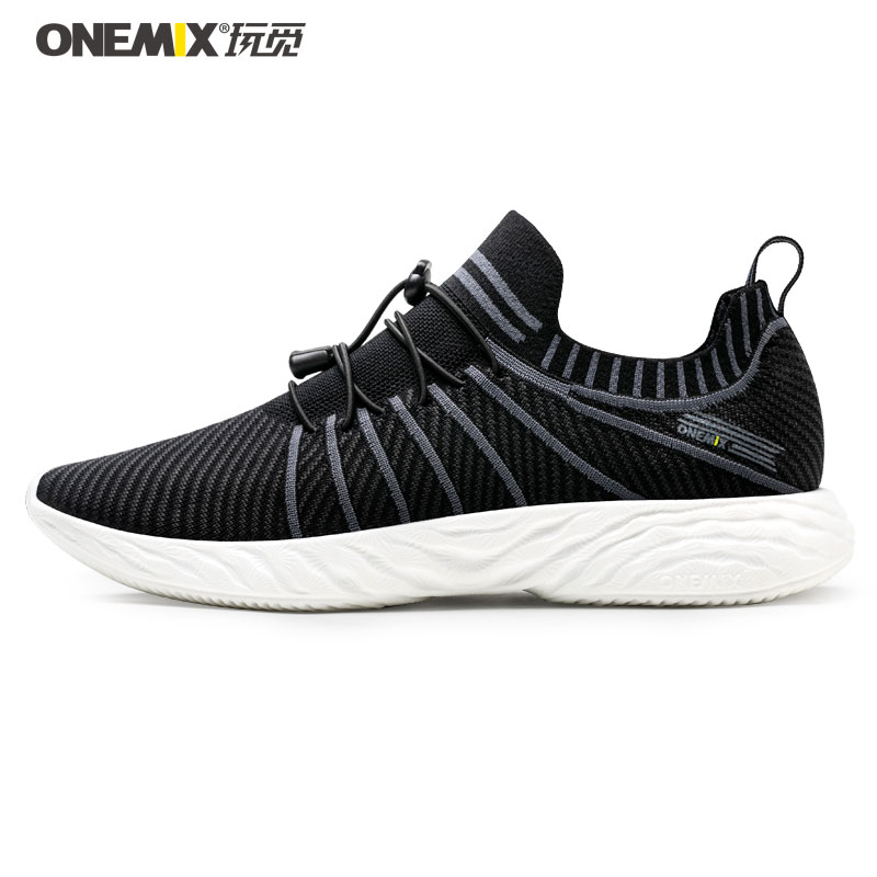 ONEMIX FASHION Men Lightweight Air-Knit Casual Shoes Women Breathable Running Sneakers High Rebound Trail Trainers