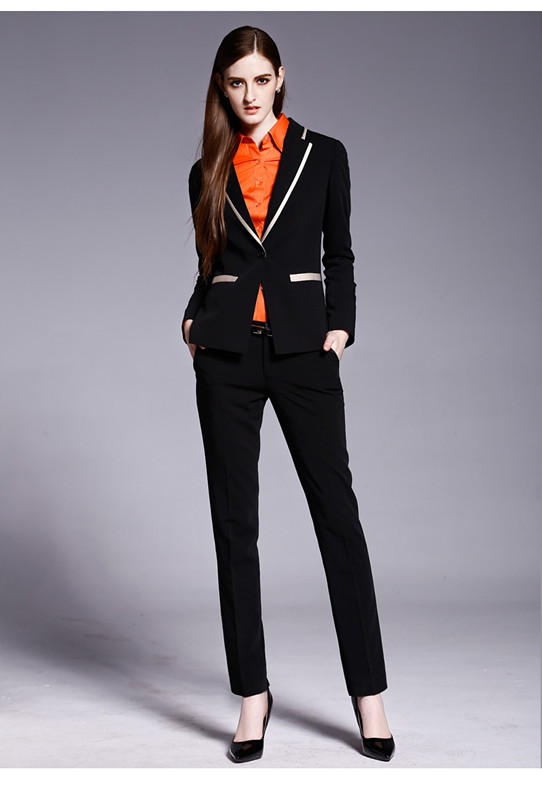 black business suit womens dress yy