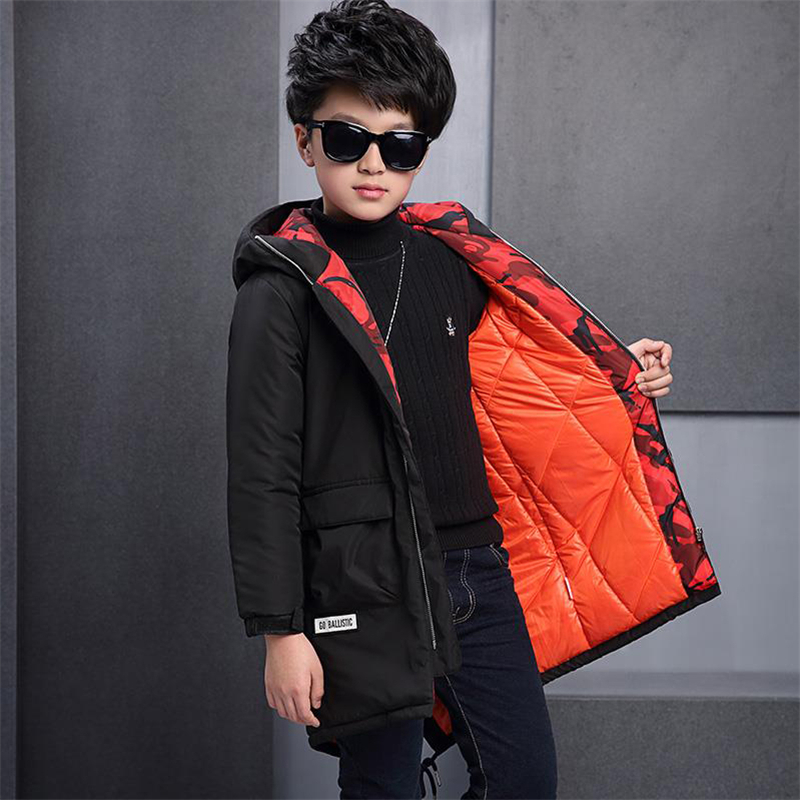 Children's clothing boys long-sleeved 2017 new autumn and winter coat boys cotton padded children padded jacket autumn winter cotton jacket women clothing 2017 new fur collar cotton jacket to keep warm long paragraph women clothing ls148