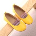 WENDYWU Girls Red Shoes Autumn New Arrival Solid Soft Bottom School Girl Shoes Casual Skid Kids Shoes