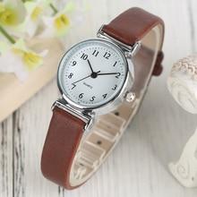 Zwart / Wit / Bruin / Rood Kleine Wijzerplaat Dames Armband Horloges Dames Quartz Eenvoudige Polshorloge Meisje Elegante Mode Klok Best Gift
