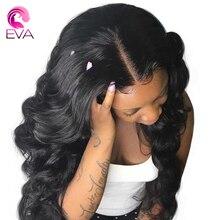 4,5*4,5 шелк база 150% плотность Синтетические волосы на кружеве человеческих волос парики отбеленные узлы волны человеческого тела парик бразильский Волосы remy парики Eva