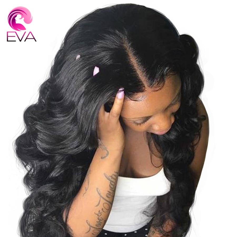 4.5*4.5 Silk Base 150% Density Lace Front Human Hair Wigs Bleached Knots Body Wave Human Hair Wig Brazilian Remy Hair Wigs Eva