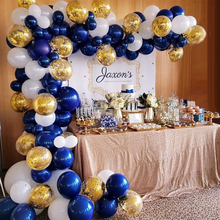 142 шт синий белый смешанный воздушный шар прозрачный золотой gonfetti баллон для детей с днем рождения вечерние украшения для взрослых свадебные принадлежности