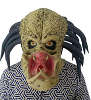 Alien Predator Horror Mask Halloween Party Costume Cosplay Helmet Props Latex Full Head Scary Masks