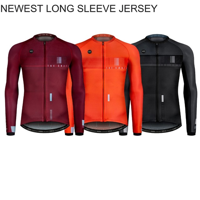 b3e59fc65 2018 last design Autumn high breathability Long Sleeve cycling Jersey  bicycle clothes top quality race fit