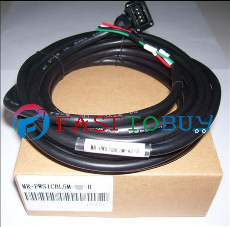 Brand New Power Cable Compatible With Mitsubishi Servo MR-PWS1CBL5M-A1-H5M 1 Year Warranty servo cable mr pwcnk1 10m 10 meter mr pwcnk1 servo power connector