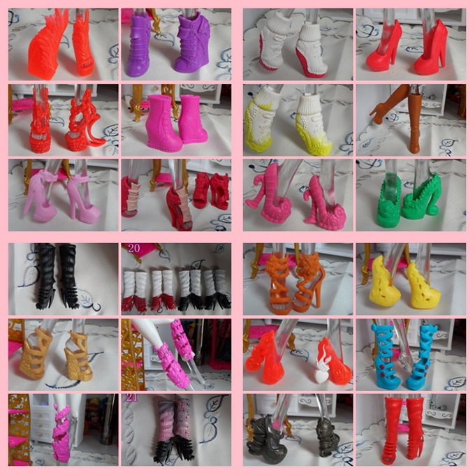 High Recommended Mixed Style Beautiful Boots Sandles 1 6 Dolls Shoes Original Monster Doll Shoes Factory
