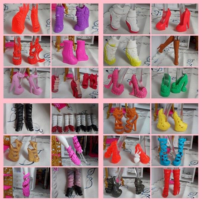Muy Recomendado estilo mixto hermosa botas sandalias 1/6 muñecas zapatos originales monstruo muñeca fábrica de zapatos al por mayor 100 par/lote-in Muñecas from Juguetes y pasatiempos    1
