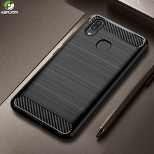 Keajor Case For Samsung Galaxy A40 Luxury Soft Silicon Back Cover Carbon Fiber Shockproof Bumper A30 A50