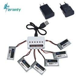 3,7 V 400 мА/ч, Батарея и 6-Порты и разъёмы Зарядное устройство для SYMA X15 X5A-1 X15C X15W H31 X4 H107 KY101 E33C E33 U816A V252 H6C RC ЗАПАСНЫЕ Запчасти