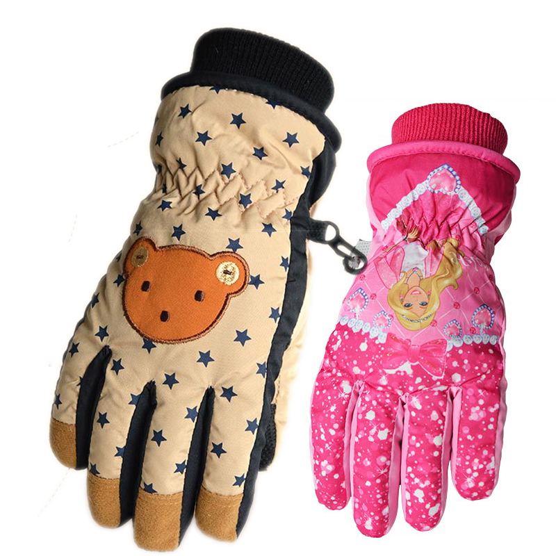 cartoon kids winter warm snowmobile ski gloves for boys. Black Bedroom Furniture Sets. Home Design Ideas