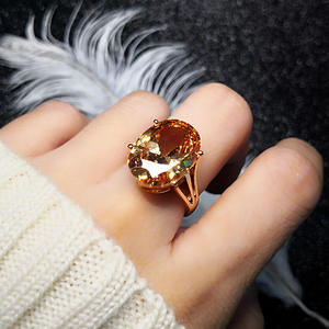 MOONROCY Jewelry Cz-Rings Crystal Rose-Gold-Color Girls Cubic-Zirconia Women Party