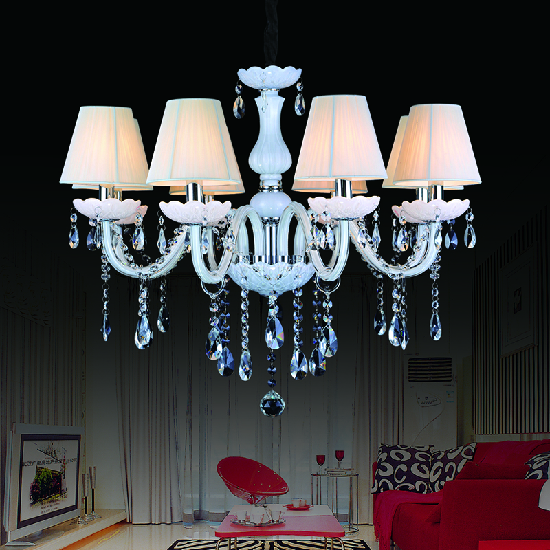 modern led crystal chandelier lampshades lustres de. Black Bedroom Furniture Sets. Home Design Ideas