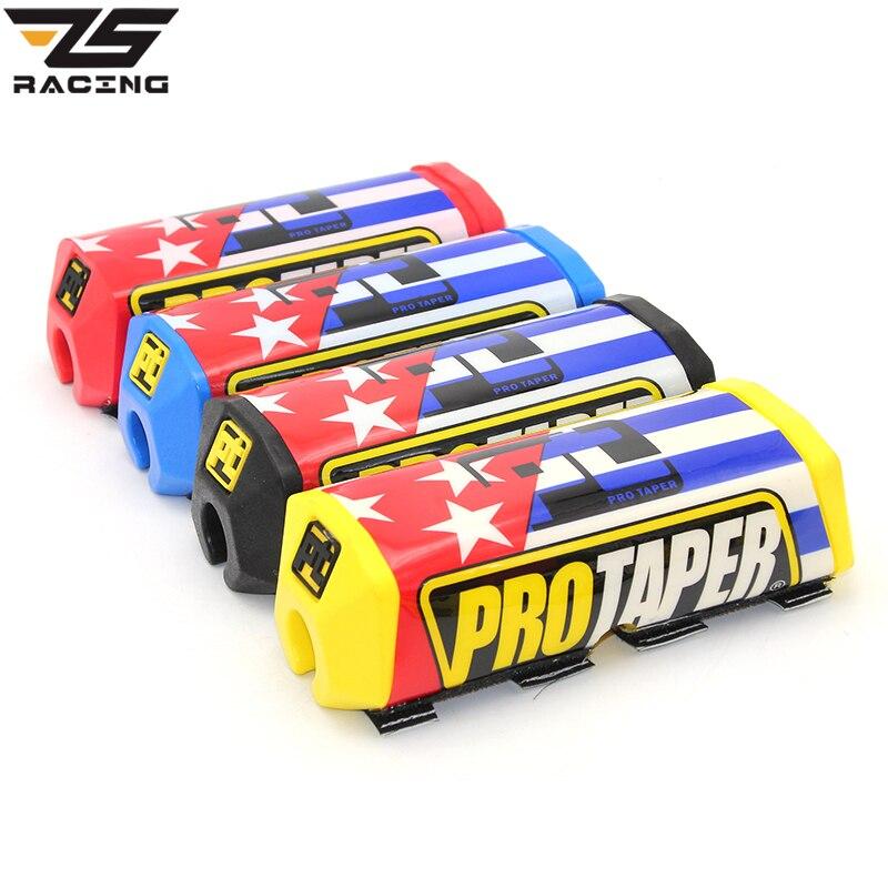 ZS Racing Blue striped 2.0 Square Mx Motocross Dirt bike Grip Handlebar Fat Bar Pad Chest Protector Bar Fit 1-1/8 handle bar