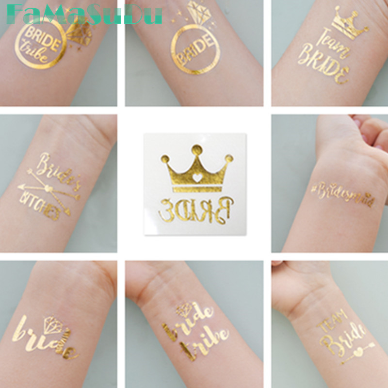 3pcs bride tribe temporary tattoo bachelorette party for Tattoo party ideas