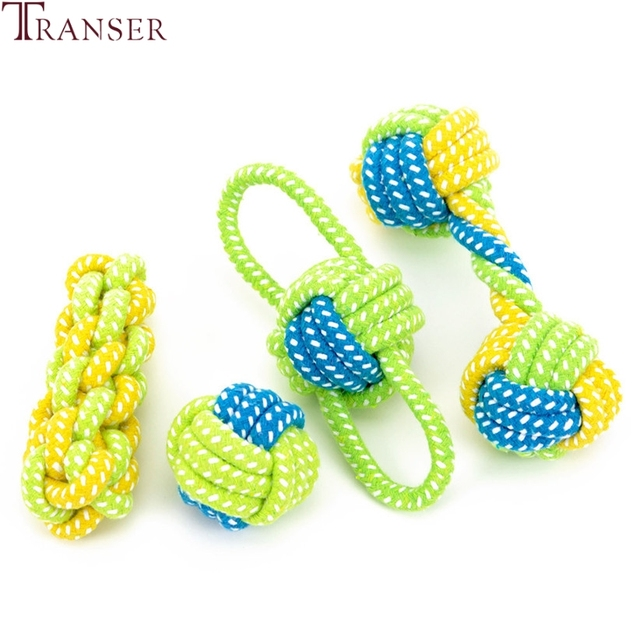 Transer Pet Supply Dog Toys Dogs Chew Teeth Clean Outdoor Traning Fun Playing Green Rope Ball Toy For Large Small Dog Cat 71229 1