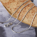 925Sterling Silver clavicle chain necklace new women