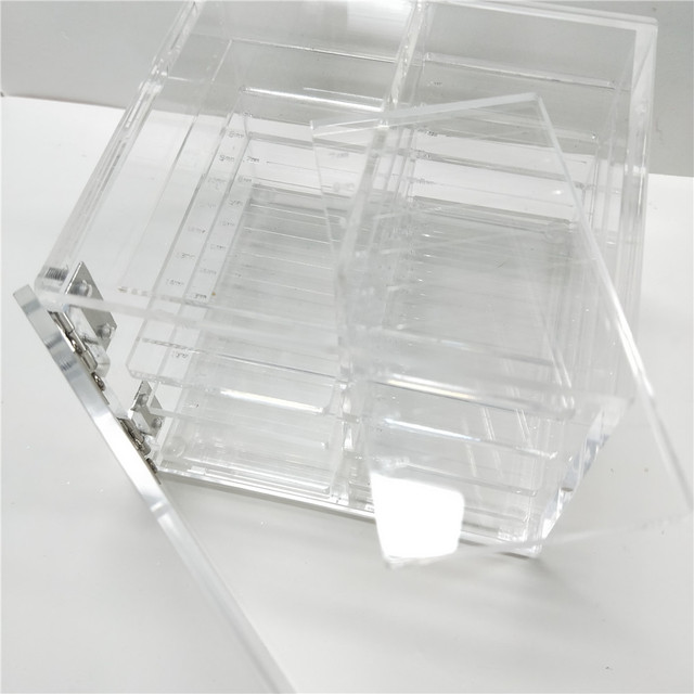 603bec2b381 False Eyelash Lash Storage Box Eye Lashes Display Holder Acrylic Case Eyelash  Extension Box Packaging Supplies