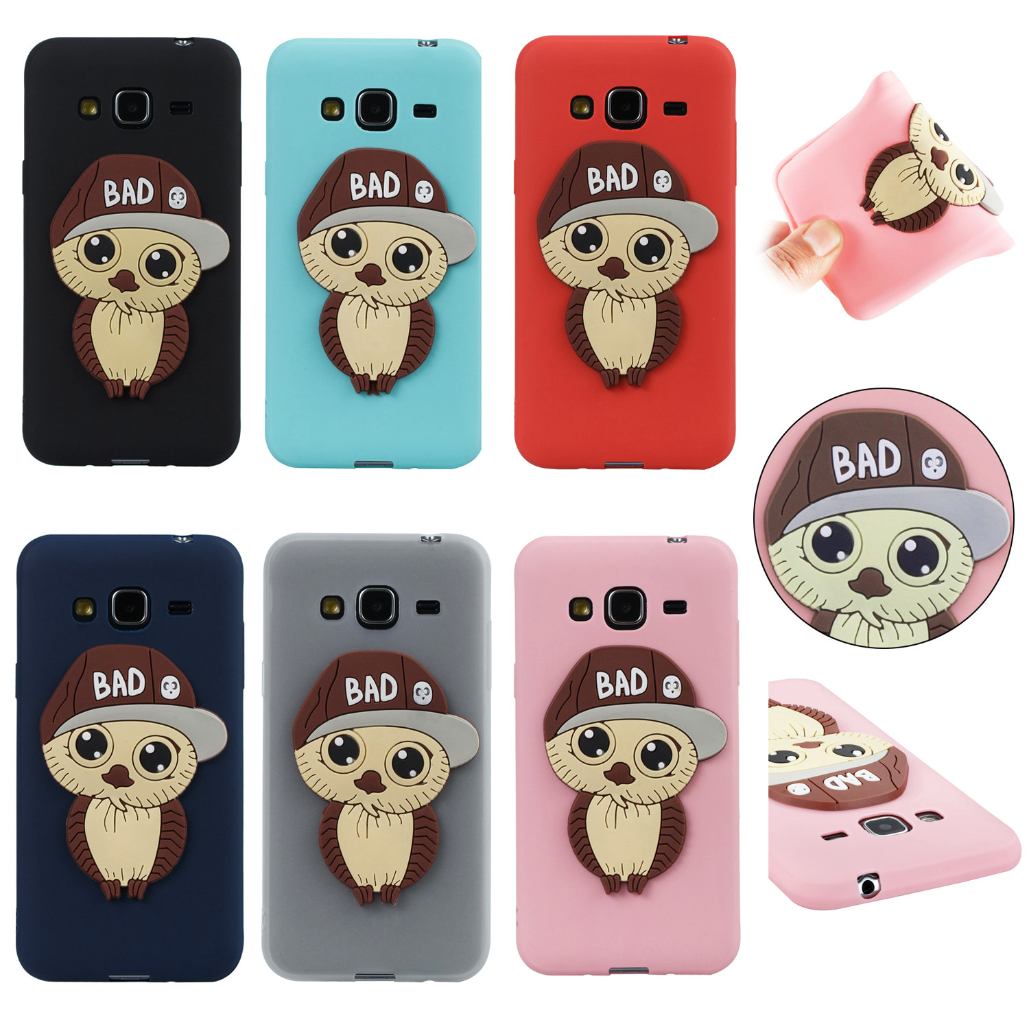 Owl pattern mobile phone protection shell for Samsung J3 j310 mens model patch atmosphere for galaxy j3 j310 cover