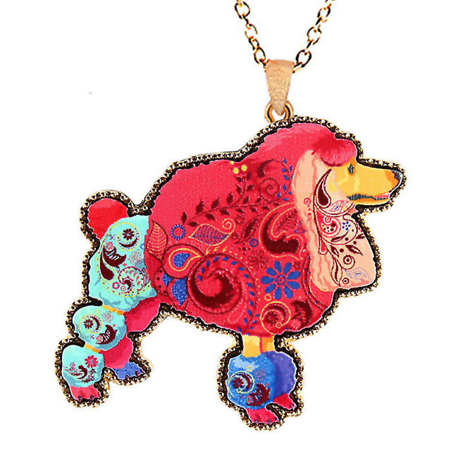 Acrylic animal colorful necklacecute squirrel pendantnecklace acrylic animal colorful necklacecute squirrel pendantnecklace women painted long chain poodle flat mozeypictures Gallery