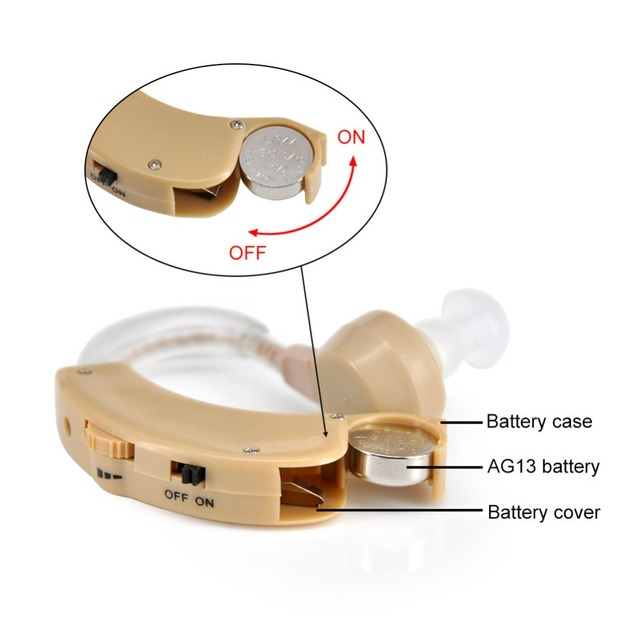 Hearing Aids Small Mini Behind The Ear Best Sound Voice Amplifier Adjustable Tone Digital Cheap Hearing Aid for The Elderly
