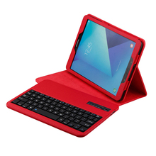 Bluetooth Keyboard Protective Case PU Detachable Wireless  Cover for Samsung Galaxy Tab E 9.6 Tablet SM-T560 / T561 / T565 funda bk800 64 key bluetooth v3 0 keyboard w detachable pu case for samsung tab s t800 805 red