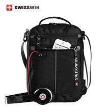 Swisswin Messenger Schultertasche 11 zoll Schwarz Tasche für Ipad handliche crossbody tasche für studenten Casual Oxford Messenger Satchel