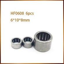 HF0608 подшипник 6*10*8 мм(6 шт.) игольчатые роликовые клатч HF061008 игольчатый подшипник