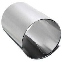 1 шт 0,2 мм толщина Серебро 304 нержавеющая сталь тонкая пластина лист фольга 100 мм x 1 м для электронного оборудования