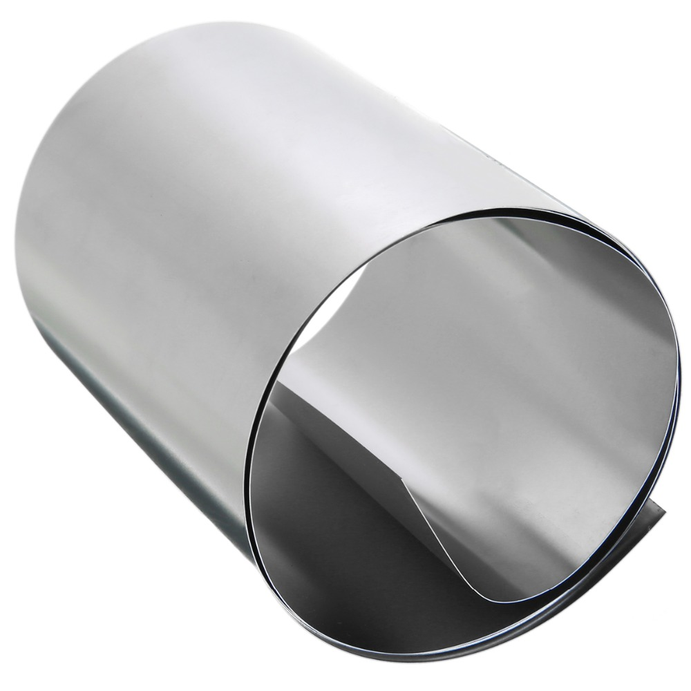 1pc 0.2mm Thickness Silver 304 Stainless Steel Fine Plate Sheet Foil 100mmx1m For Electronic Equipment