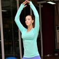 Quick Dry Bodybuilding Long Tee Women Runs Slim Hoody Yogaing Tops Fitness Sporting Workout Sweatshirts For Exercise T-Shirt
