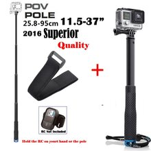"Go Pro Accessories 36"" Inch Monopod Extendable Handheld Selfie Pole for GoPro Hero 5 4/3 SJCAM SJ5000 Xiaomi Yi Action Cameras(China)"