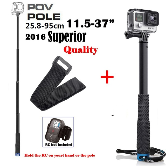 "Go Pro Accessories 36"" Inch Monopod Extendable Handheld  Selfie Pole for GoPro Hero 5 4/3 SJCAM SJ5000 Xiaomi Yi Action Cameras"