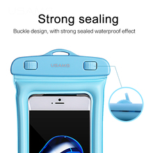 USAMS Universal Waterproof Case Pouch bubble float bag 6 inches phone case for iPhone 7 Samsung S8 plus Xiaomi