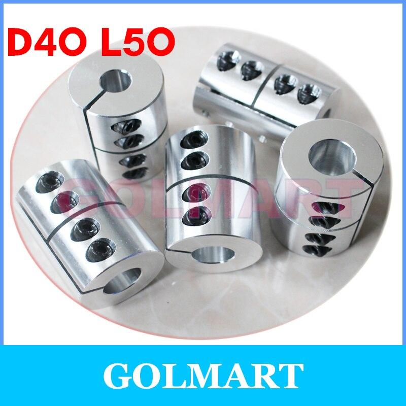 Ochoos Diameter 30mm Length 40mm Clamping Rigid Coupling Aluminum for Engraving Machine Shaft Coupler Motor Connector Inner Diameter: 6mm to 12.7mm