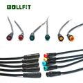 BOLLFIT Julet кабель 2 3 4 5pin водонепроницаемый разъем Электрический велосипед Удлинительный кабель для Ebike светильник Trottle дисплей