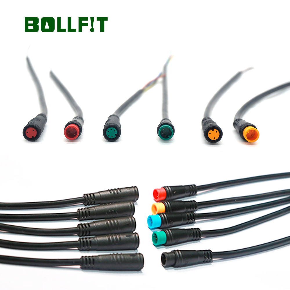BOLLFIT  Julet 2pin3pin4pin5pin Waterproof  Connector For Ebike Light Trottle Ebrake Display Ebike Parts Ebike Extend Cable
