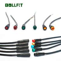 BOLLFIT Julet 2pin3pin4pin5pin conector impermeable para Ebike luz Trottle Ebrake pantalla piezas Bicicleta electrónica Ebike extender Cable