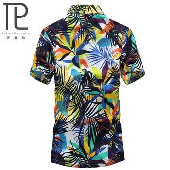 Mens Hawaiian Casual Printed Beach Shirts Short Sleeve ,Regular and 5XL Sizes 1