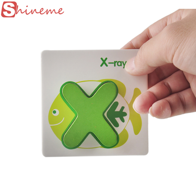 Children Alphabet Letters Puzzle Card Learning Education Wooden Classic Kids Baby Math Educational Toys for Girls Boys Card Book