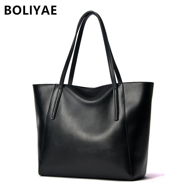 BOLIYAE Genuine Leather casual HandBags fashion Shoulder Bags Women TOTES Luxury Cowhide Top-Handle BagBOLIYAE Genuine Leather casual HandBags fashion Shoulder Bags Women TOTES Luxury Cowhide Top-Handle Bag