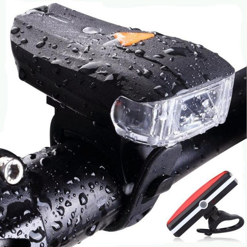 AYDAN USB Rechargeable Bicycle Handlebar Lights 400 Lumens 1200 MAh Waterproof Front Light Night Riding Lights Bicycle Light Set