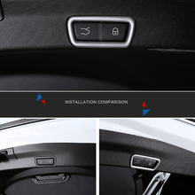 Car Rear Door Tailgate Switch Cover Trim ABS Matte 1PCS For Alfa Romeo Stelvio 2017-2018