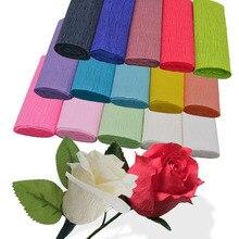 250 15 Cm Crinkle Kertas Krep Kerajinan DIY Buatan Tangan Kertas Pembungkus  Bunga Lipat Scrapbooking 6cf0308dc9